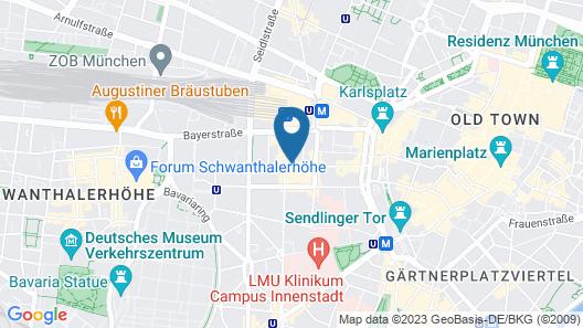 Hotel Cristal Munchen Map