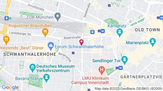 relexa hotel München Map