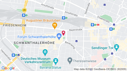 Four Points By Sheraton Munich Central Map