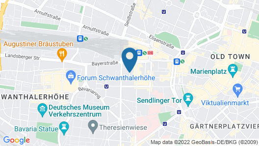 Hotel Metropol by Maier Privathotels Map