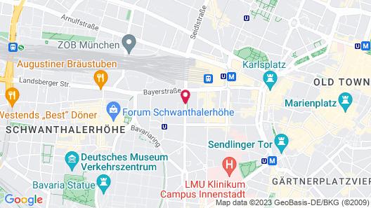 arthotel munich Map