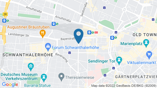 arthotel munich Map