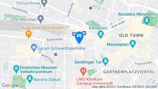 Mercure Muenchen City Center Map