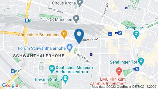 Hotel Senator Map