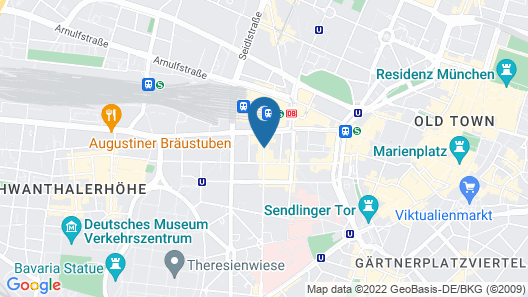 Maritim Hotel München Map