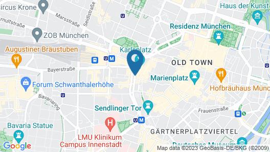 Hotel Daniel Map