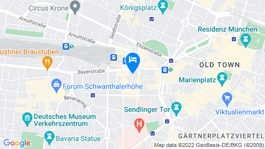Leonardo Hotel München City Center Map