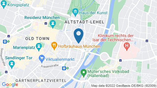 Opera Hotel Map