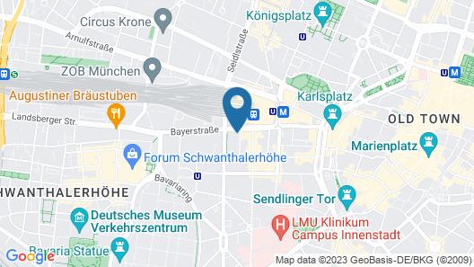 Fleming's Hotel München-City Map