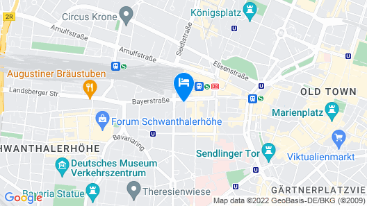 Flemings Hotel München-City Map
