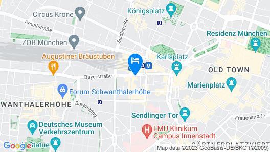 Aloft Munich Map