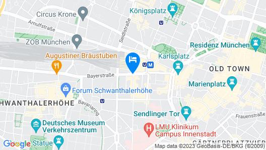 Le Méridien München Map