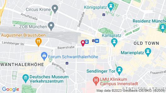 Sofitel Munich Bayerpost Map