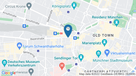 Hotel Stachus Map