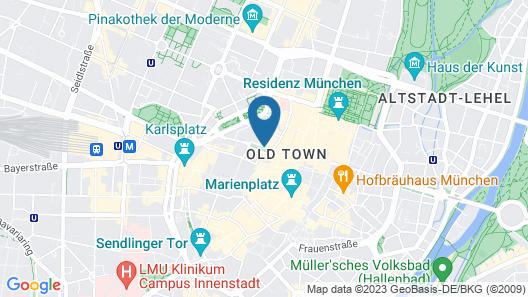 Hotel Bayerischer Hof Map