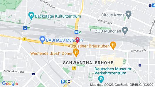 Hilton Garden Inn Munich City Centre West, Germany Map