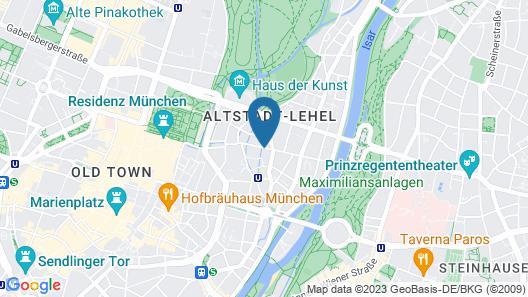 Hotel Adria München Map