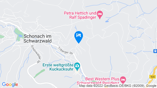 1 Bedroom Accommodation in Schonach Map