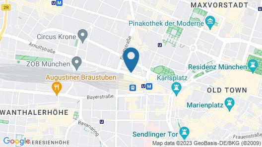 Sure Hotel by Best Western Muenchen Hauptbahnhof Map