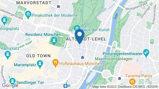 Golden Leaf Parkhotel Im Lehel Map