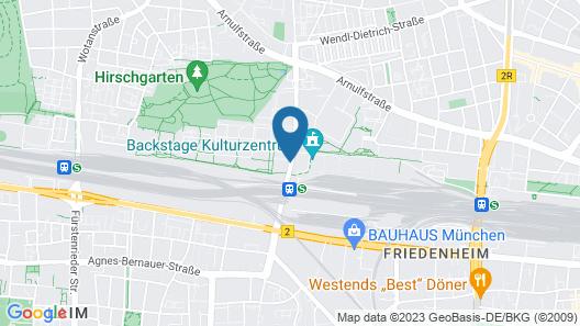 Holiday Inn Express Munich City West Map