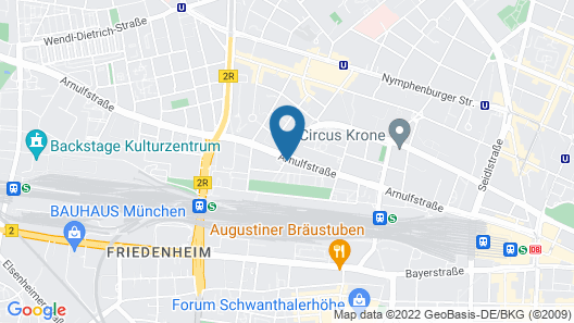 Citadines Arnulfpark Munich Map