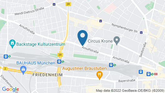 a&o München Hackerbrücke Map