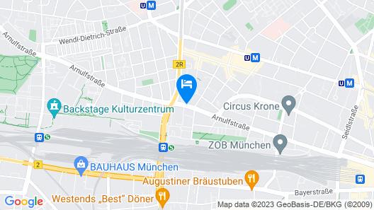 Novotel München City Arnulfpark Map