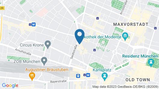 Ruby Lilly Hotel Munich Map