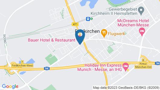 Bauer Hotel & Restaurant Map
