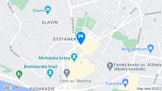 AC Hotel by Marriott Bratislava Old Town Map