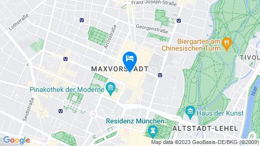 das HOTEL in München Map