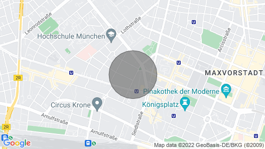 400m2 Unique Artist Loft in Central Munich, Close to Oktoberfest Map