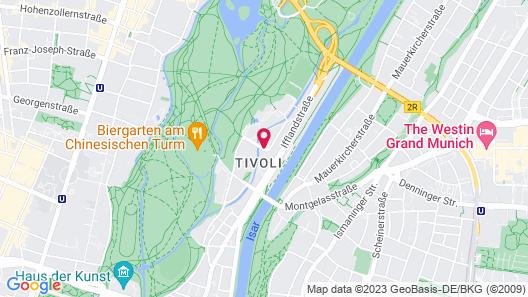 Hilton Munich Park Map