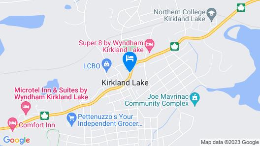 Super 8 by Wyndham Kirkland Lake Map