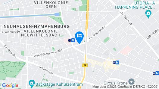 GHOTEL hotel & living München-Nymphenburg Map