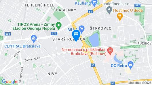Premium Business Hotel Bratislava Map