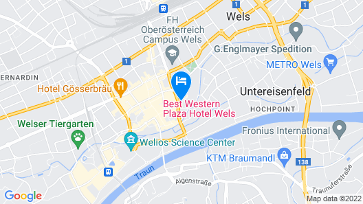 Best Western Plaza Hotel Wels Map