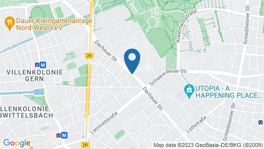 Leonardo Hotel Munich City Olympiapark Map