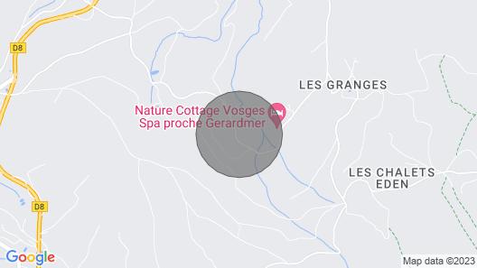 Chalet de L'écureuil Dans le Massif Vosgien, Proche de Gérardmer et L'alsace Map