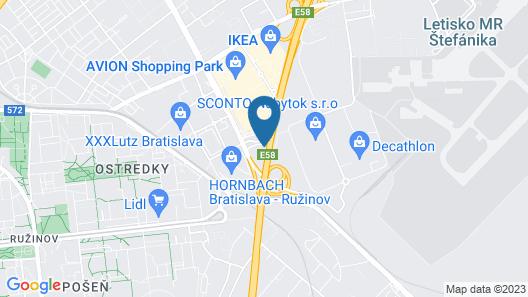 Vienna House Easy Bratislava Map