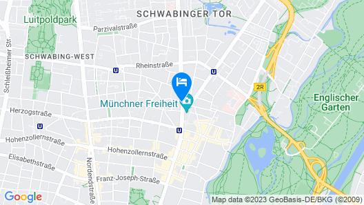 Mercure Hotel München Schwabing Map