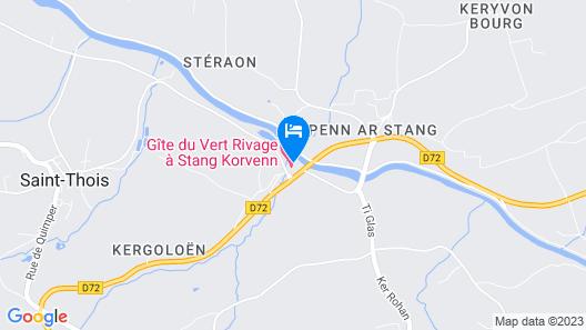 Maison du Vert Rivage - Stang Korvenn Map