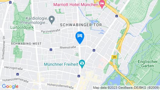 Fleming's Hotel München Schwabing Map
