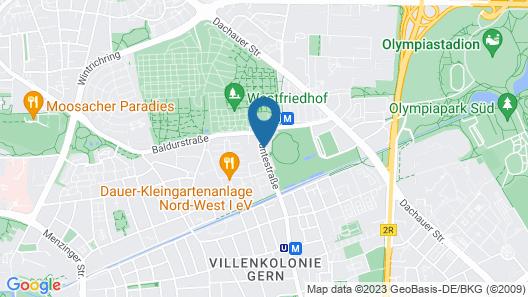 Frederics München City Olympiapark Map