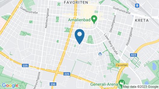 a&t Holiday Hostel Wien Map