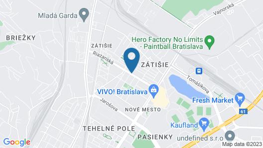 Blue Bratislava Map