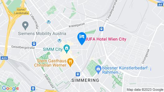 JUFA Hotel Wien City Map