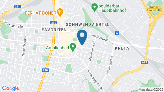 Aparthotel Smart Apart Living - Wien Hauptbahnhof Map