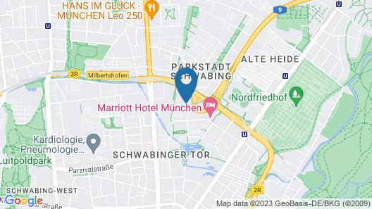 Steigenberger Hotel Muenchen Map
